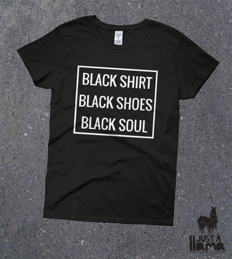 635fa03c Black Shirt Black Shoes Black Soul hipster clothing | Etsy