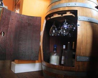 Wine/Whiskey Barrel Drink Cabinet
