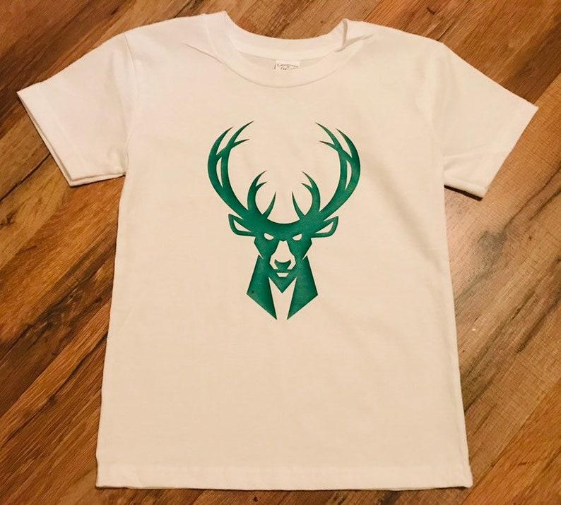 new product ec8fe 6cf63 Milwaukee Bucks Basketball shirt