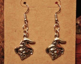 LA BEFANA WITCH Earrings | Dangle French Hook | Crone | Christmas Witch |  Epiphany Eve