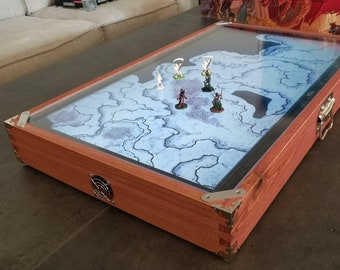 """32"""" Digital Map Case / Battle Mat for Dungeons & Dragons, Pathfinder and other Tabletop RPGs (with Fog of War) For TV Model: TCL 32S325"""