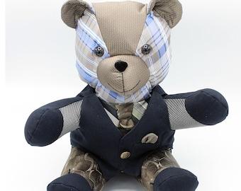Black Bear Batik Necktie Black Bear Tie Gift for Dad Black Bear Necktie Teacher Gift Bear Necktie Bear Tie