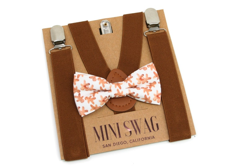 Gingerbread Bow Tie & Brown Suspenders  Perfect for image 0