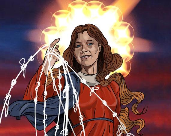 Our Lady Undoer of Knots 8 x 10