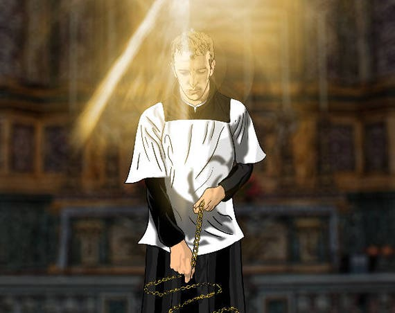 St. John Berchmans 16 x 20 wrapped Canvas Print