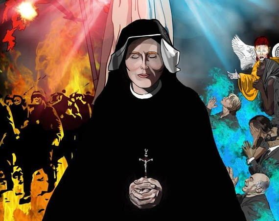 St. Faustina 16 x 20 Wrapped Canvas Print