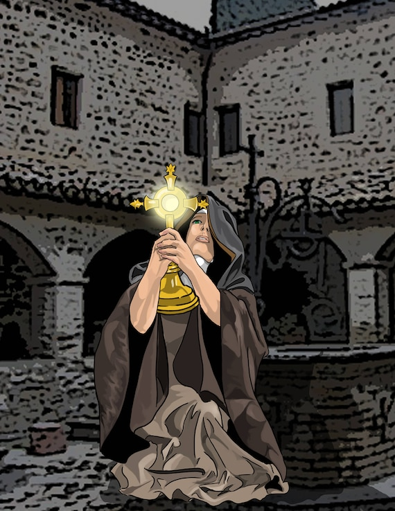 St. Clare of Assisi Poster