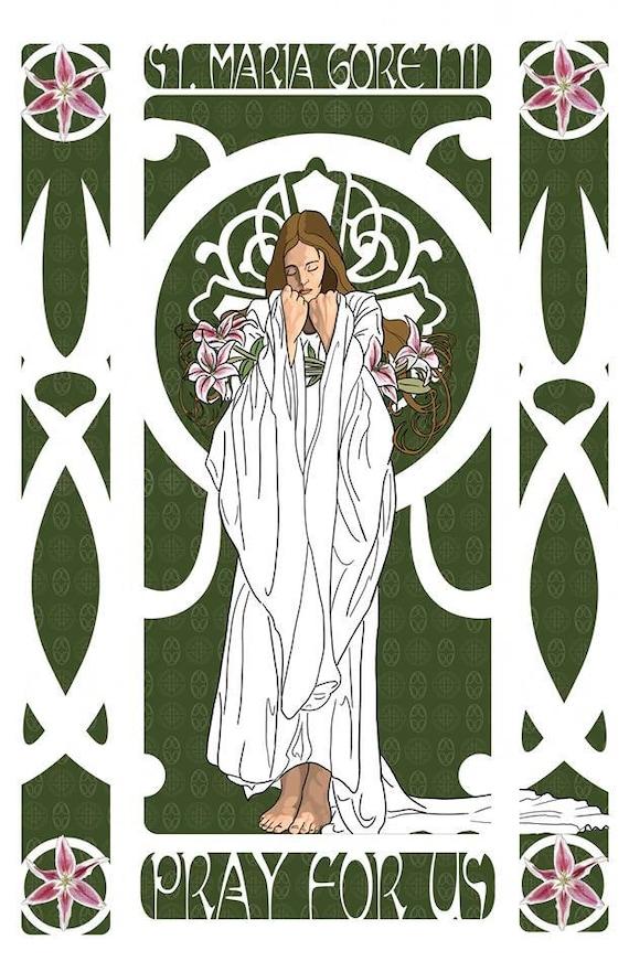 St. Maria Goretti 16 x 20 Wrapped Canvas Print