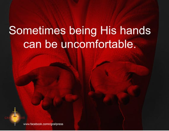 Jesus' Hands Poster