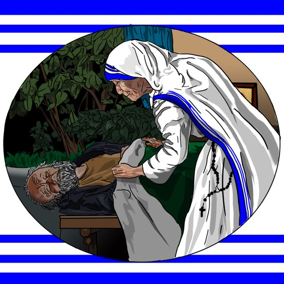 St. Teresa of Calcutta 14 x 14 Wrapped Canvas Print