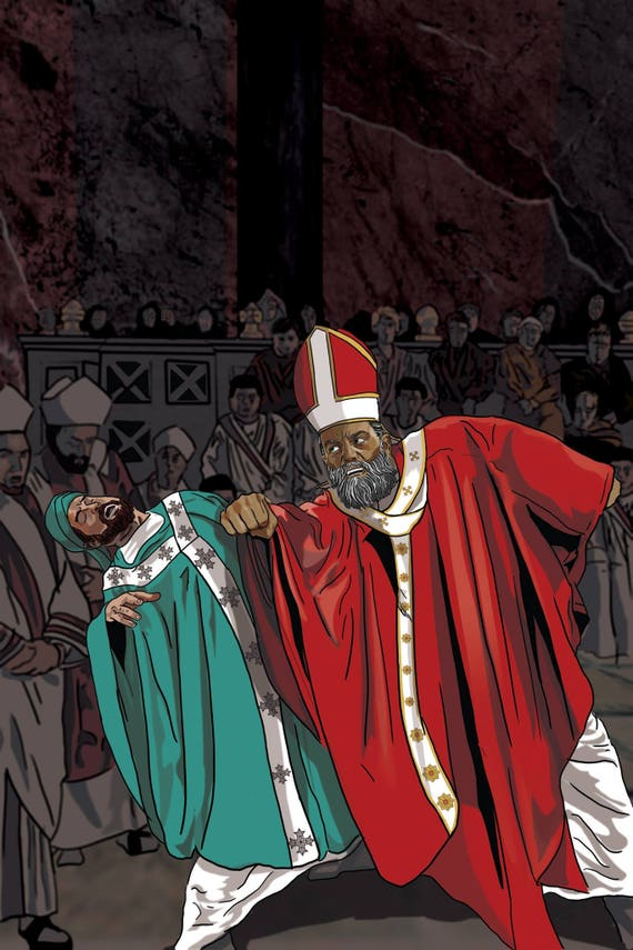 St. Nicholas at the Council of Nicea Poster