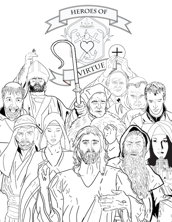 Heroes of Virtue Coloring Pages Download