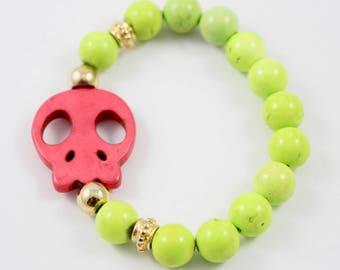 Skull Howalite Bracelet
