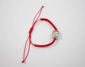 Woven Red Buddha String Bracelet