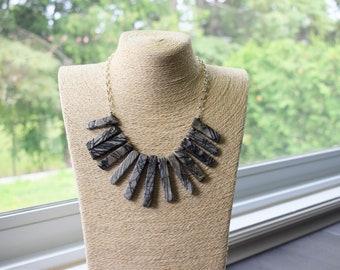 Picasso Jasper Bib Necklace - Bib Style Necklace - Statement Necklace