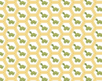 Lori Whitlock - Fine and Dandy - Dandy Turtles Yellow By Riley Blake Designs Cotton Quilting Fabric by meter (1.1 yard)