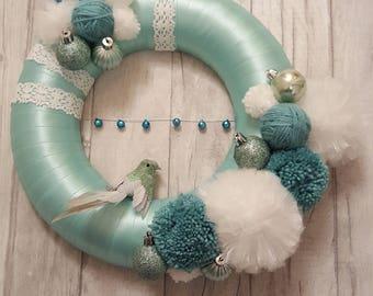 aqua wreath