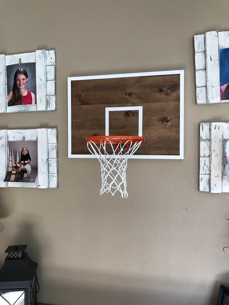 Basketball Hoop   Rustic Basketball Hoop   Basketball Decor
