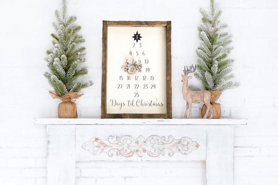 Days Until Christmas Sign  Advent Calendar  Christmas Decor