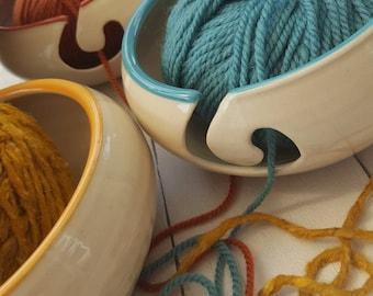 Hand Thrown Ceramic Yarn Bowls