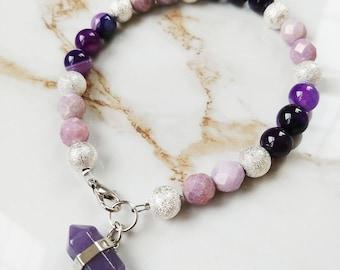 Ultra Violet Beaded Bracelet // Gifts for Her