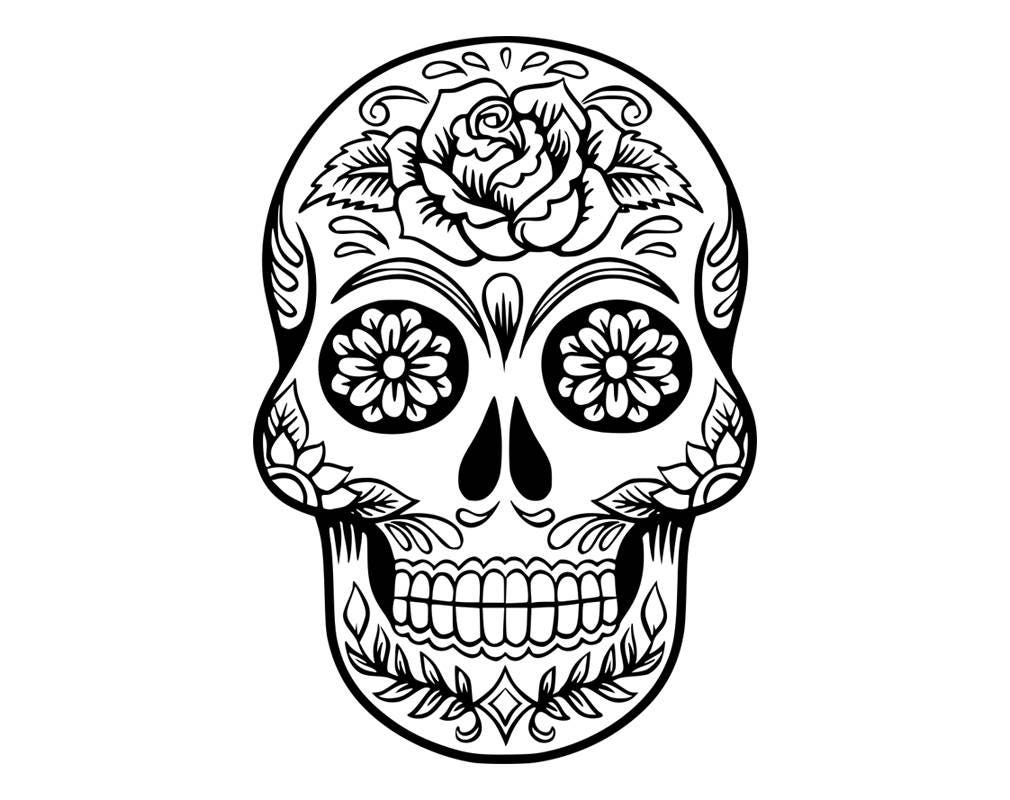 It's just a picture of Remarkable Black And White Sugar Skull Drawing
