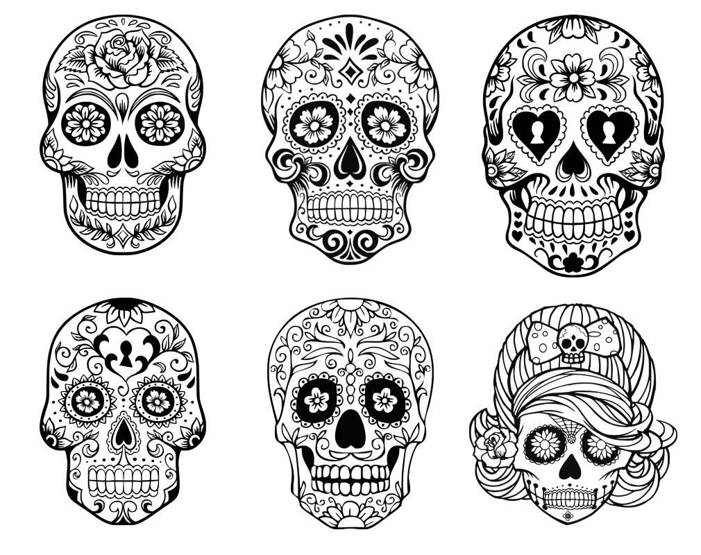 Sugar Skull SVG collectionCandy Skull Svg Dxf Sugar Skull
