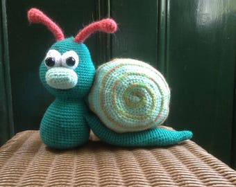 Stuffy snail crochet toy amigurumi