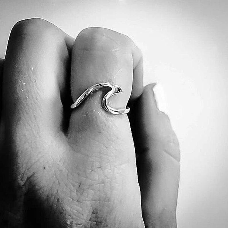 Bohemian Wave Ring Silver Wave Ring Handmade Ring Wave Ring Gypsy Ring 925 Sterling Silver Ring Wave Beach Ring,