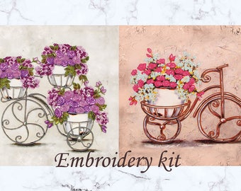 flower needlework kit beginner needlework beginner hand embroidery kit needlework design boho embroidery design needle craft kit diy gift