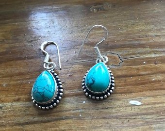 Turquoise earrings, turquoise jewelry, turquoise jewellery, turquoise earrings drop, turquoise earrings silver, turquoise drop earrings