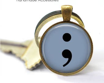 SEMICOLON • Semi Colon • Suicide Awareness • Depression Awareness • My Story Isn't Over • Key Ring • Keychain • Made in Australia (K183)