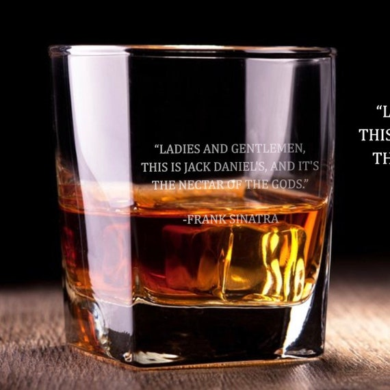 Frank Sinatra Quote (Jack Daniel\'s) - D.O.F Whiskey/Bourbon/Scotch Set of 2  (Round or Square)