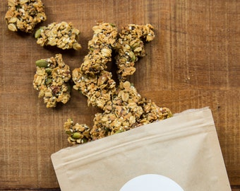 CLUSTERED Salty-Sweet Olive Oil Granola (6 9-oz pouches)