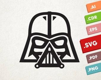 Darth Vader - SVG, Vector files. Instant download design for cricut or silhouette. Star Wars.