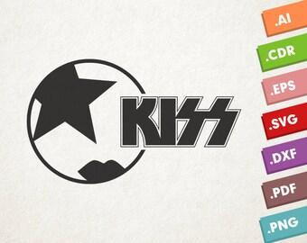 Paul Mask KISS - SVG Vector file. Kiss makeup mask. Instant download for cricut or silhouette. Kiss makeup shape SVG. Kiss band. Paul mask.