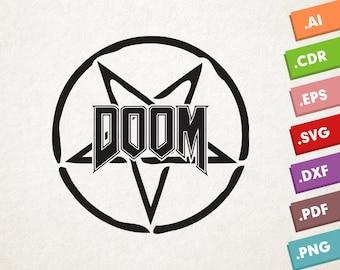 DOOM logo - SVG Vector file. Game Doom. Instant download for cricut or silhouette. DOOM. Doom logo. Eternal
