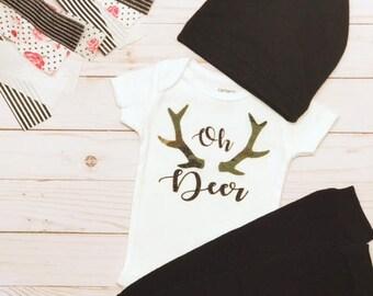 Antler Bodysuit | Baby Camo Bodysuit | Baby Camo Onesie | Custom Onesie | Baby Shower Gift | Baby Camo Onesie | Baby Hunting Clothes