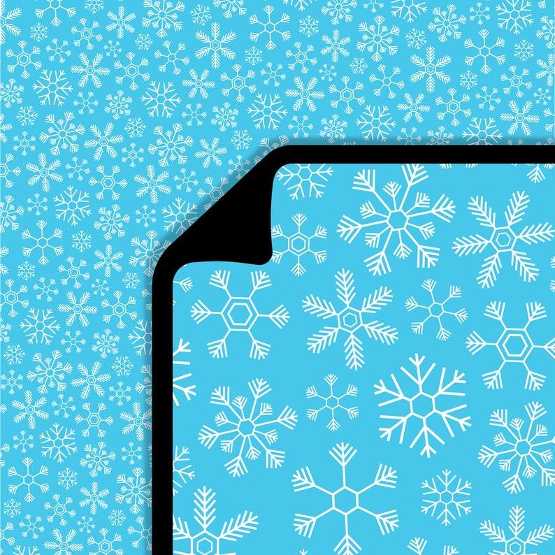 Snowfall Lifestyle Pattern Heat Transfer Vinyl 1 Yard