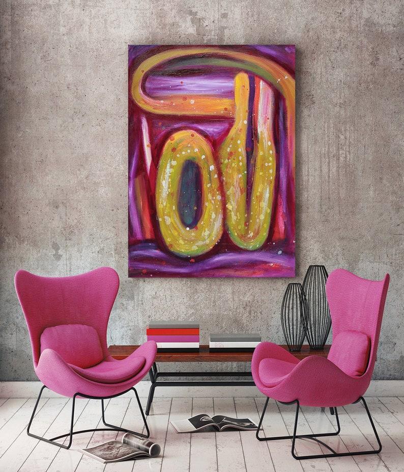 Canvas art abstract modern purple Wall Art on canvas image 0