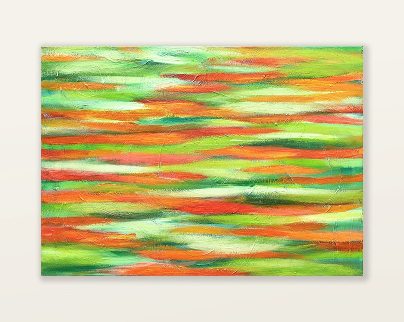 Original abstract oil painting on canvas colorful modern image 0