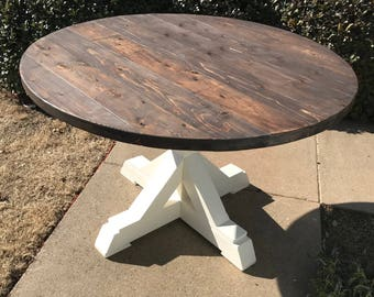 Merveilleux Round Farmhouse Table