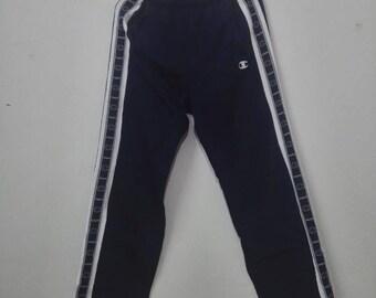 Vintage CHAMPION Sweatpant Logo Stripe Design