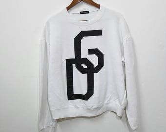 Vintage DOLCE GABBANA Sweatshirt Big Logo White Colour Nice Design