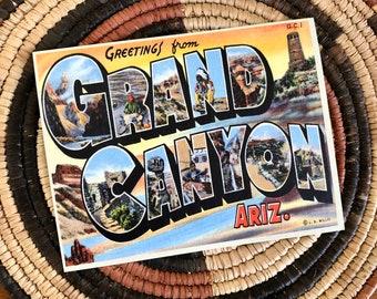 Grand Canyon Retro Postcard