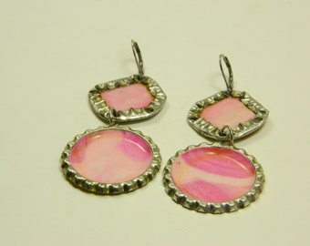 Earring couple unique in pink