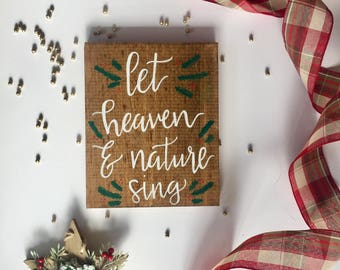 """Handmade wood sign 