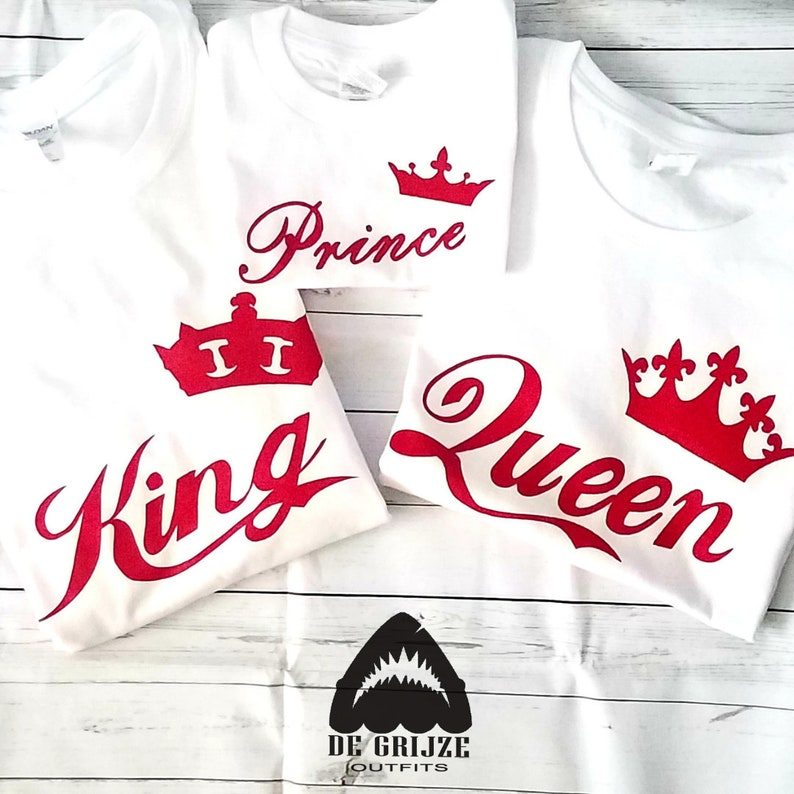 27e930343d Red King Queen T Shirt for Couples Matching Hubby Wifey   Etsy
