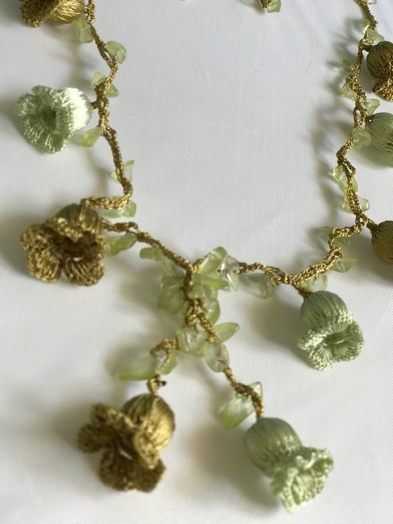 Beige Boho Seed Bead Bracelet Short Crochet Necklace Beaded Crochet Hair Piece Vintage Style Crochet Lariat Anatolian Washable Jewelry,