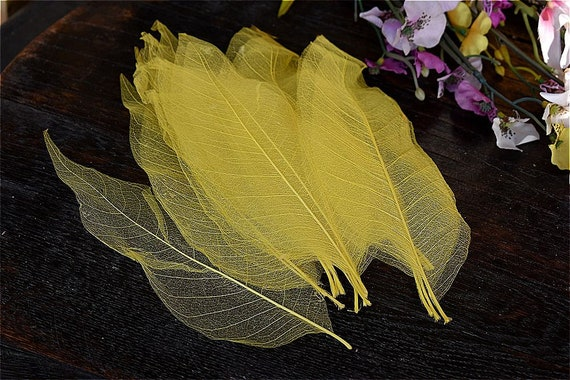 50pc Skeleton Leaf Leaves Card Making Scrapbooking Wedding Invitations Decor